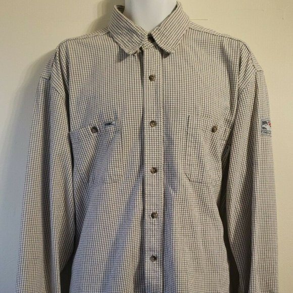 Tyndale Women/'s XS Flame Resistant Long Sleeve Collared Button Down Work Shirt